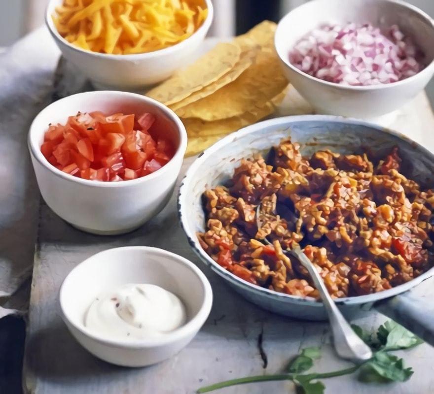 Masa para tacos mexicanos y relleno - Salsa para relleno de carne ...